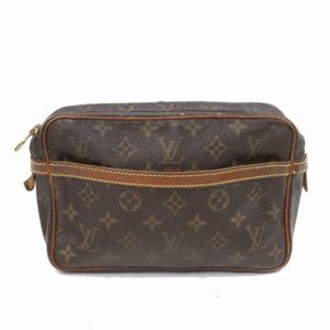 Auth Louis Vuitton Compiegne 23 Clutch #1015L60